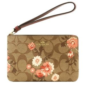 CORNER ZIP WRISTLET IN SIGNATURE CANVAS F78045